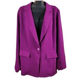 TORRID Coat Fuschia Pink Suit Blazer